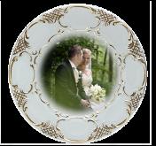 Talíř svatební reliéfní - 19cm