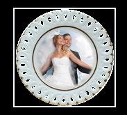 Talíř svatební vykrajovaný
